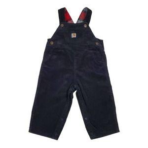 Carhartt Infant Boys Black Corduroy Overalls 24 mo
